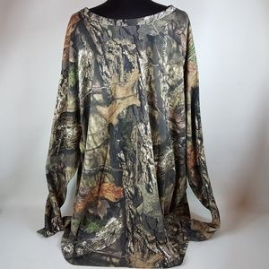 Red Head Camo Shirt, Mens 6XLT, Long Sleeve, Mossy